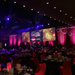 Large Projection Mapping and Blending for Corporate Event Management